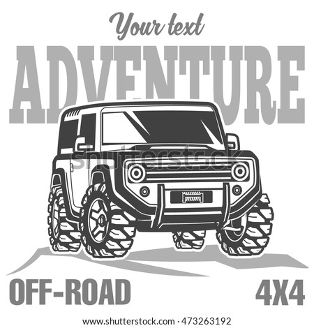 Off road suv car poster