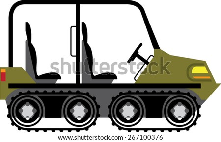 Off Road Vehicle Outdoor Utility Atv - stock vector