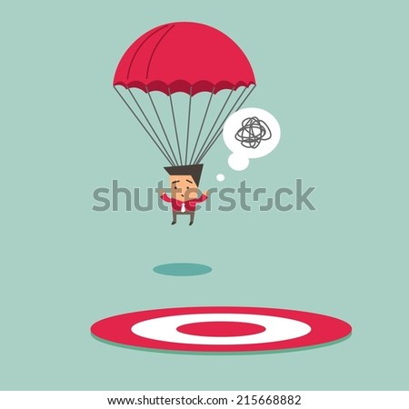 Off target from the point. Flat vector illustration - stock vector