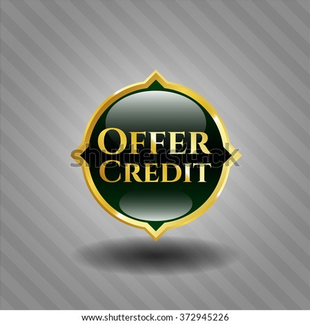 Offer Credit gold badge - stock vector