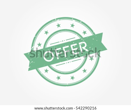 offer. green stamp sign vector illustration