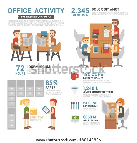 Office Activity Infographics - stock vector