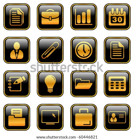 Office and business icons for your products and designs, isolated objects - stock vector