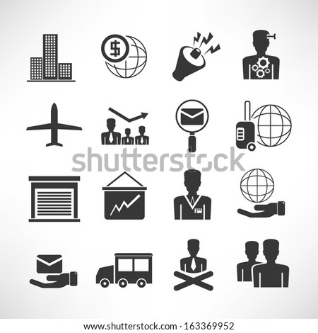 office and business icons set - stock vector