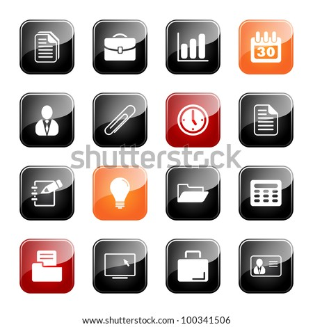 Office and business - professional icons for your website, application, or presentation, eps10 - stock vector