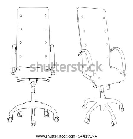 Office Armchair Vector 01 - stock vector
