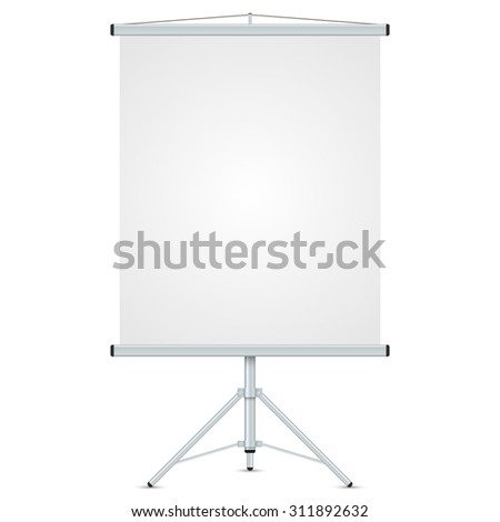 Office blank whiteboard vector template isolated on white background.  - stock vector