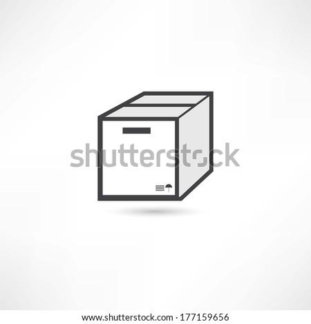 office box icon - stock vector