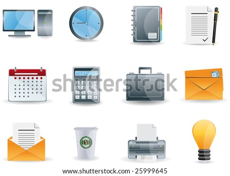 Office & Business icons set - stock vector