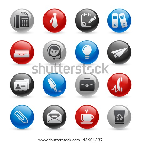 Office & Business Web Icons // Gel Pro Series - stock vector