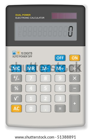 Office calculator - stock vector