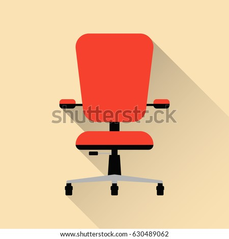 Office Chair Flat Design Vector Illustration Stock Vector 630489062 ...