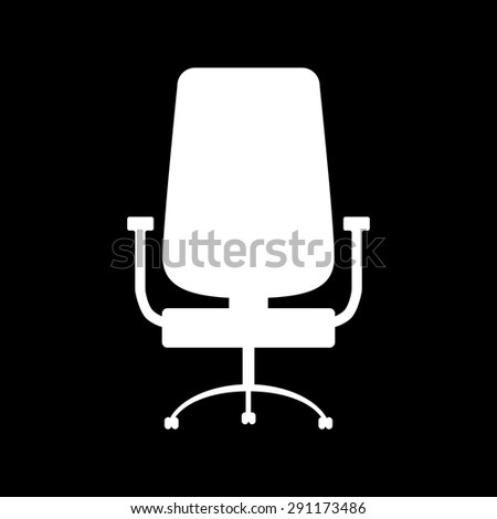 office chair icon isolated - stock vector