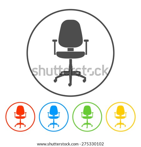 Office chair icon, vector eps 10 illustration - stock vector
