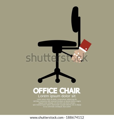Office Chair Vector Illustration - stock vector