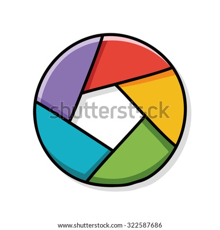 office chart doodle - stock vector