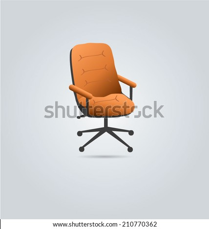 Office computer chair icon clipart. Vector illustration