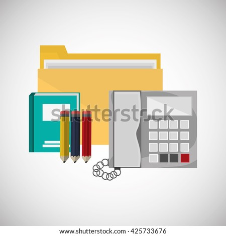 office design. corporate icon. Isolated illustration