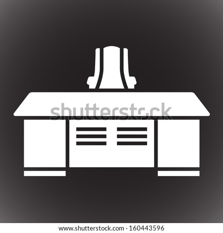 office desk with chair web icon. vector illustration - stock vector