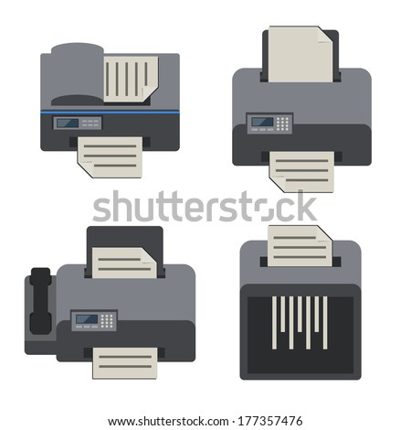 office electronics icon set. - stock vector