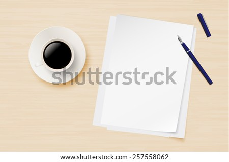 Office equipment on a table vector