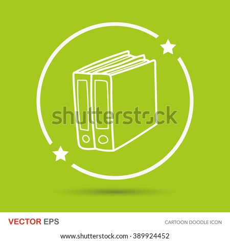 office file doodle - stock vector