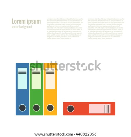 Office folder flat icon. Vector file organizer silhouette illustration.