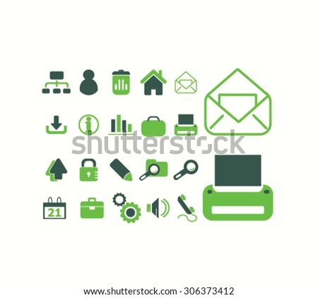 office, home, document icons, signs, illustrations  - stock vector