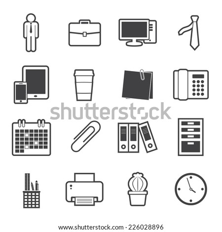 office icon - stock vector