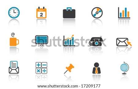 Office Icon Set - Blue version