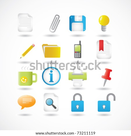 Office Icons Series Set - stock vector