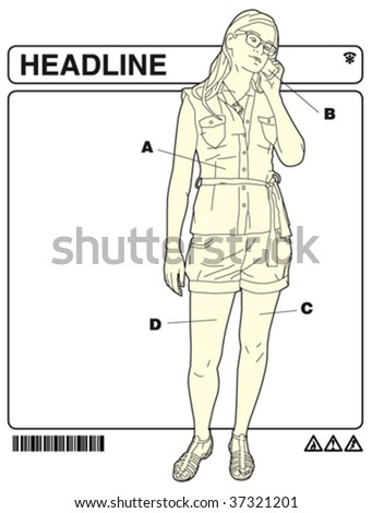 office instructions 1 - stock vector
