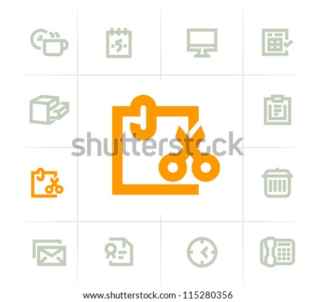 Office Items - stock vector