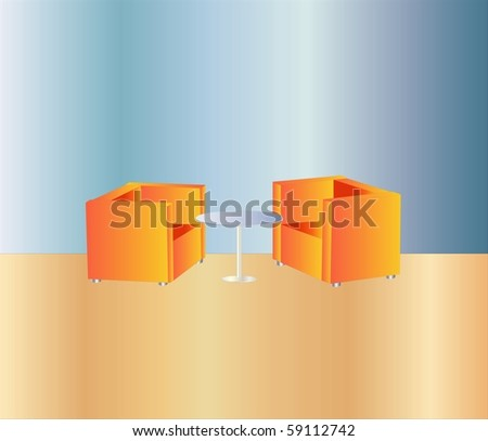 office lounge ( Background on separate layer ) - stock vector