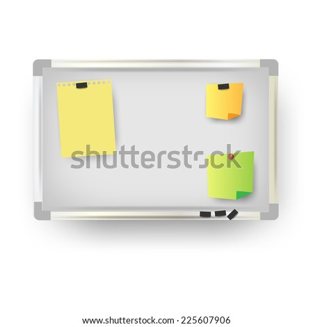 office magnetic board.Vector - stock vector