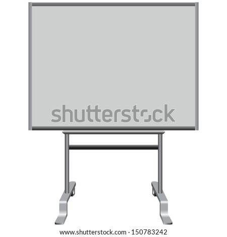 Office magnetic plastic board to write. Vector illustration.