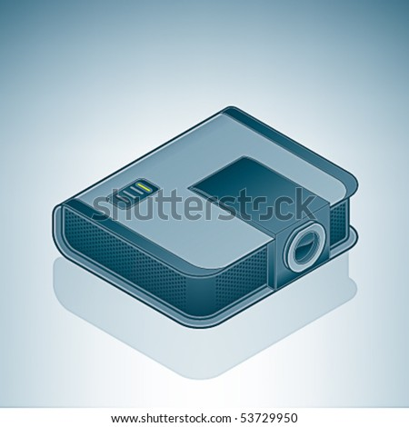 Office Meeting Projector - stock vector