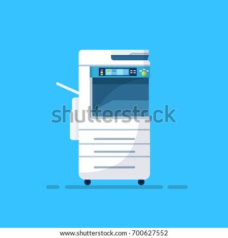 blue copy machine