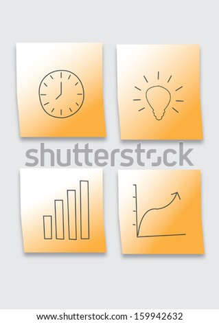 Office note for successful. - stock vector