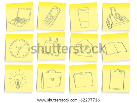 Office Notes - stock vector