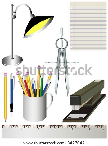 Office or School Supply Collection - stock vector