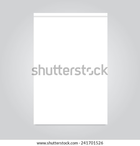 Office paper blank realistic notepad notebook with shadow - stock vector