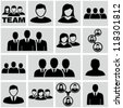 Office people icons set - stock photo