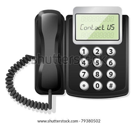 Office Phone Icon. Vector illustration - stock vector