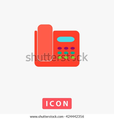 Office Phone Icon Vector. Office Phone Icon Logo. Office Phone Icon Picture. Office Phone Icon Image. Office Phone Icon UI. Office Phone Icon EPS. Office Phone Icon AI. Office Phone Icon Drawing - stock vector