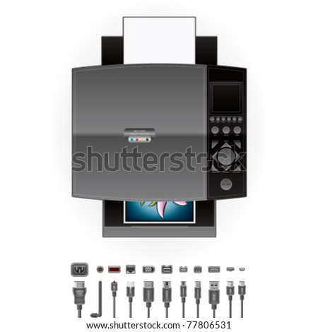 Office Photo InkJet Printer/Photocopier Top View