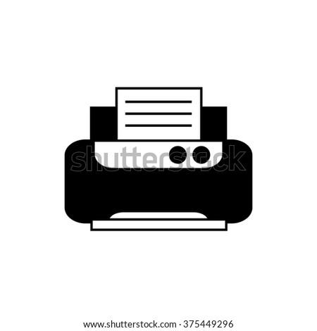 Office printer. Vector icon - stock vector