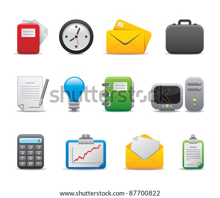 Office professional business logo icons - part I - stock vector