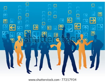office space - stock vector