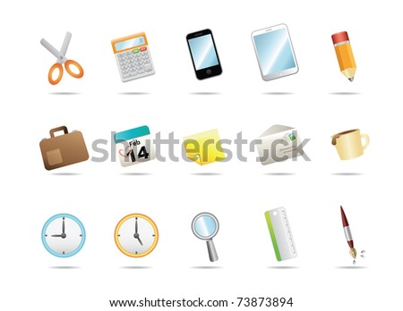 Office stationery icons
